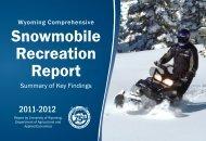 Snowmobile Recreation Report