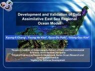 Assimilative East Sea Regional Ocean Model