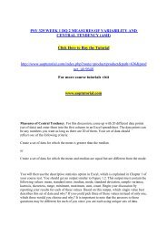 PSY 325 WEEK 1 DQ 2 MEASURES OF VARIABILITY AND CENTRAL TENDENCY/ Uoptutorial
