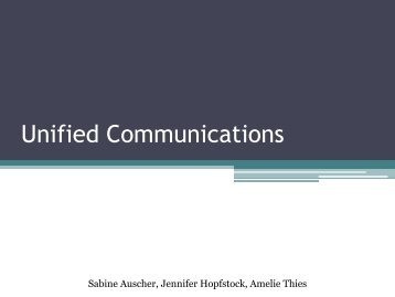 Pro Contra - Unified Communications