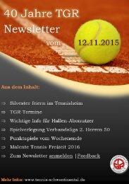 TGR Newsletter vom 12.11.2015