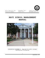 NAVY SCHOOL MANAGEMENT MANUAL