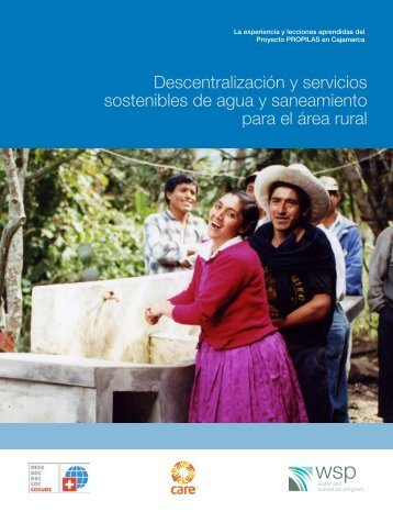 Descentralización y servicios sostenibles de agua y saneamiento ...