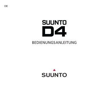 Suunto D4 Bedienungsanleitung - Tauchsport Iffland