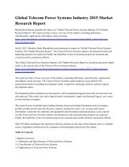 Global Telecom Power Systems Industry 2015 Market  Research Report.pdf