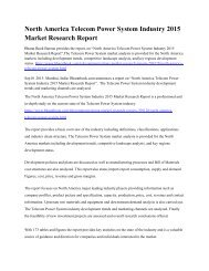 North America Telecom Power System Industry 2015 Market Research Report.pdf