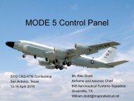 MODE 5 Control Panel