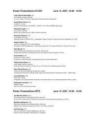 List of poster presentations - Institut für Werkstoffe der Elektrotechnik ...