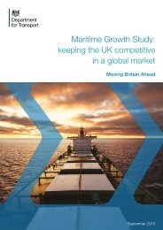 Maritime Growth Study keeping the UK competitive in a global market