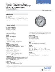 WIKA 111.16PM Pressure Gauge data sheet - DFS Gauges