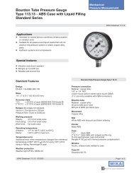 WIKA 113.13 Pressure Gauge data sheet - DFS Gauges