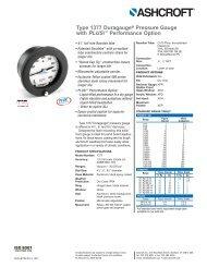 Ashcroft 1377 DURAGAUGE Pressure Gauge - DFS Gauges