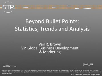Beyond Bullet Points Statistics Trends and Analysis