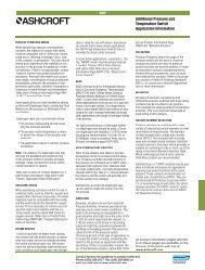 Ashcroft Pressure Switch Application Information - DFS Gauges