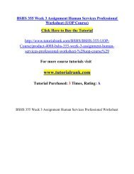 BSHS 355 Week 3 Assignment Human Services Professional Worksheet/ Tutorialrank