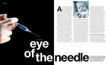 of the needle