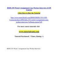 BSHS 355 Week 5 Assignment Case Worker Interview/ Tutorialrank