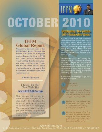 IFFM News 1010.indd - International Fellowship of Faith Ministries