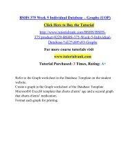 BSHS 375 Week 5 Individual Database – Graphs (UOP)/ Tutorialrank
