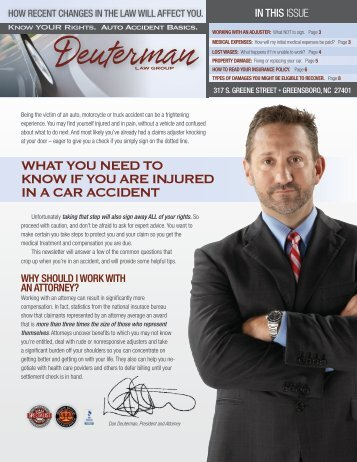 WHAT YOU NEED TO KNOW IF YOU ARE INJURED IN A CAR ACCIDENT