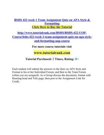 apa assignment format