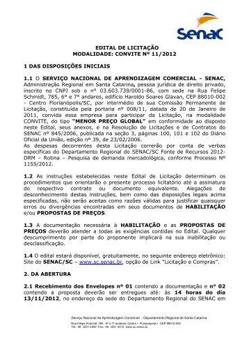 CONVITE 11-2012 - PESQUISA DE MERCADO DAT - Senac