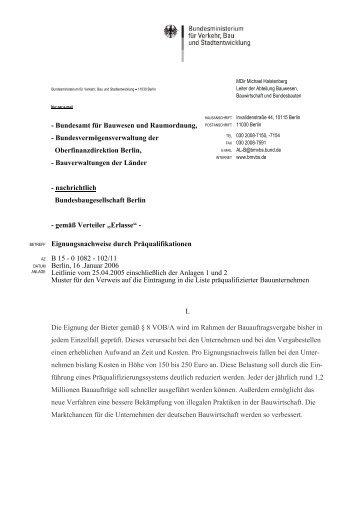 Erlass - DQB Deutsche Gesellschaft für Qualifizierung und ...