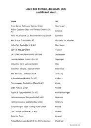 Liste der Firmen, die nach SCC zertifiziert sind: