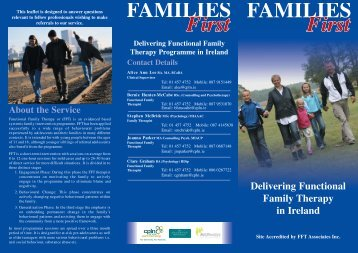 Delivering Functional Family Therapy in Ireland