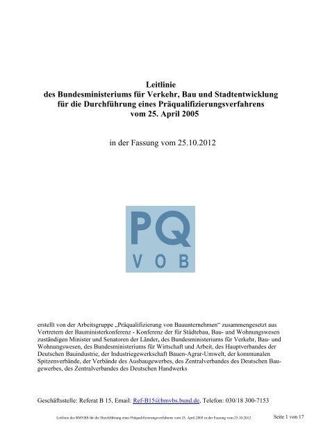 Leitlinie - Verein für die Präqualifikation von Bauunternehmen e.V.