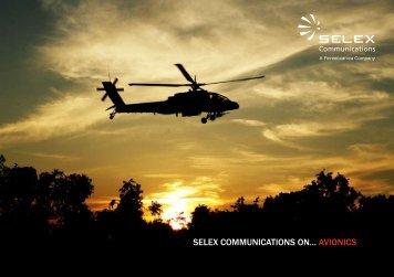 SELEX COMMUNICATIONS ON... AvIONICS