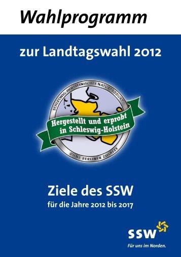 Wahlprogramm - SSW Landesverband