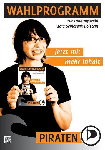 Landeswahlprogramm 2012 - Piratenpartei Deutschland