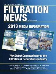 2013 MEDIA INFORMATION - Filtration News