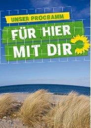 das grüne arbeitsprogramm für schleswig-holstein - SH.GRUENE ...