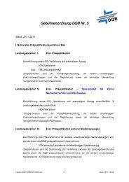 Gebührenordnung DQB Nr. 5