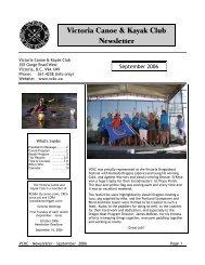 Victoria Canoe & Kayak Club Newsletter