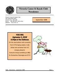 September - Victoria Canoe and Kayak Club