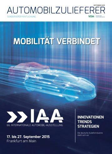 MOBILITÄT VERBINDET – Automobilzuliferer zeigen Innovationen, Trends und Strategien