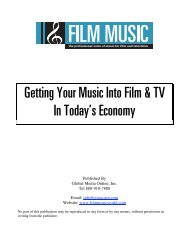 Getting Your Music Into Film & TV In Today's Economy