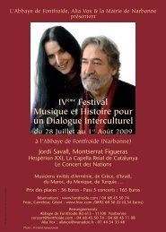 IV Festival Musique et Histoire pour un Dialogue Interculturel publique