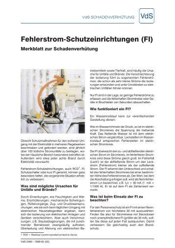 Fehlerstrom-Schutzeinrichtungen (FI) - GDV