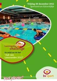 trots sponsor van de Leeuwarder Club Challenge!