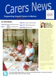 Supporting Unpaid Carers in Merton