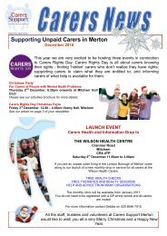 Supporting Unpaid Carers in Merton - Carers Support Merton