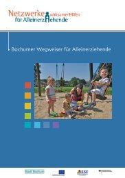 Bochumer Wegweiser für Alleinerziehende
