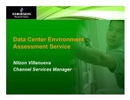 Data Center Environment Assessment Service - Emerson Network ...
