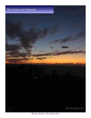 Havana Sunset - November 2012
