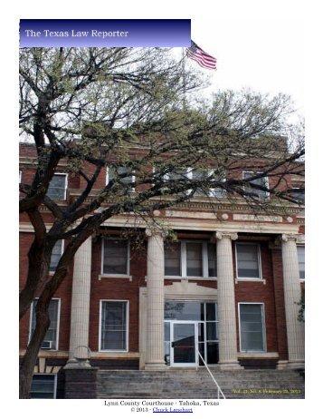 Lynn County Courthouse - Tahoka Texas