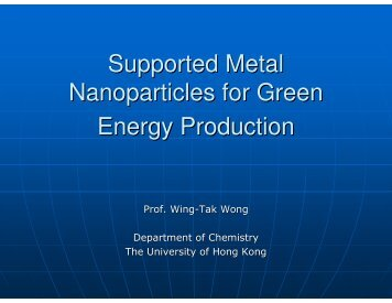 Nanoparticles for Green Energy Production